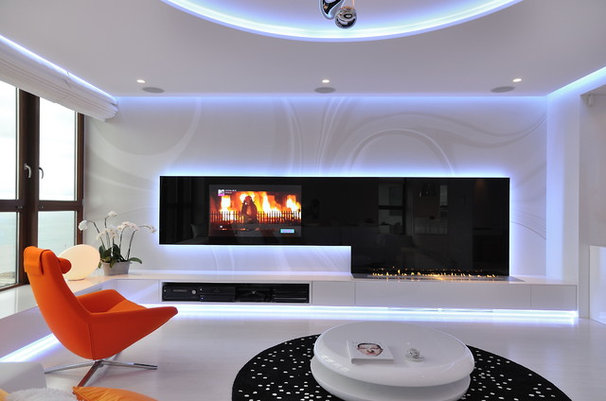 Contemporary Indoor Fireplaces by Planika Fires