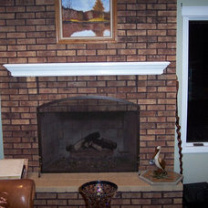 Traditional Living Room Fire Place