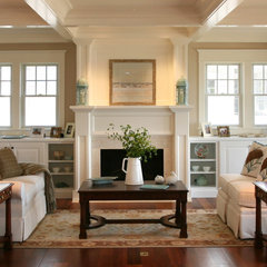 traditional living room by Asher Associates Architects