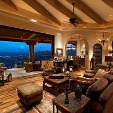 Southwestern Living Room by Sonoran Classic Builders