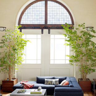 Living room - eclectic light wood floor living room idea in San Francisco