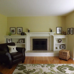 Living room - traditional living room idea in Detroit