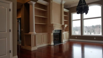 Fireplace & Bookcases