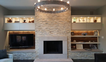 Fireplace and entertainment wall