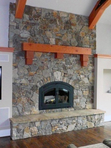 Traditional Living Room by Andy Johnston Construction LLC