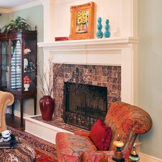 Traditional Living Room by Becky Berg Design