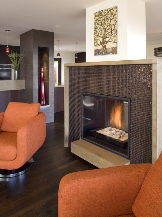 Mosaic Tile Fireplace Houzz