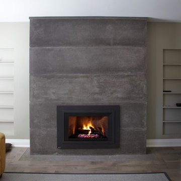Fireplace Contemporary Realisation in Montreal