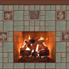 Traditional Living Room by Fay Jones Day Tile