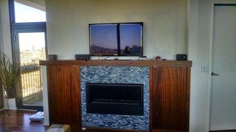 Fireplace installation
