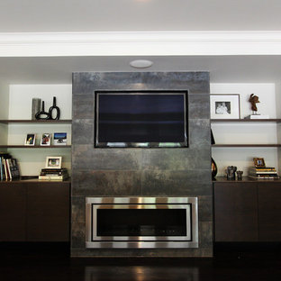 Floating Shelves Around Flat Screen Tv Ideas Photos Houzz