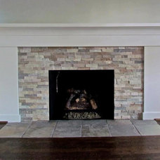 Traditional Living Room by Troy Tile & Stone