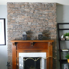 Traditional Living Room by www.barnbeammantels.com