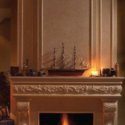 "Regal stone fireplace overmantel - ""omega cast stone fireplace mantle"""