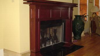 Fireplace mantle/oriental flavor