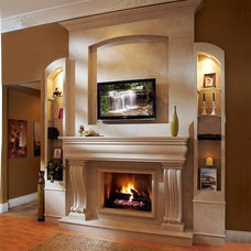 Traditional Living Room by Omega Mantels of Stone
