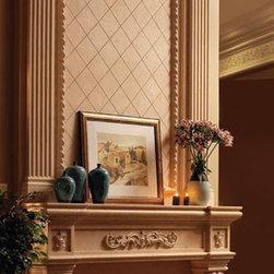 "Royal stone fireplace overmantel - ""omega cast stone fireplace mantle"""