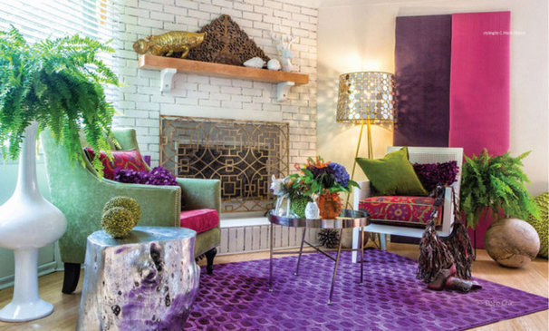 Eclectic Living Room by Marie Hebson's interiorsBYDESIGN Inc.