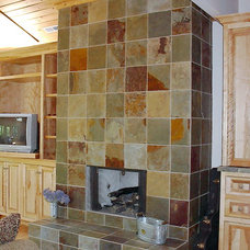 Traditional Living Room by Neuse Tile Service Inc.
