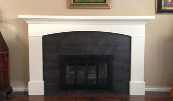 Fireplace surround with arch