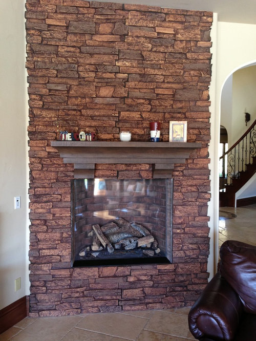 Fireplace Surrounds Of Faux Brick And Stone