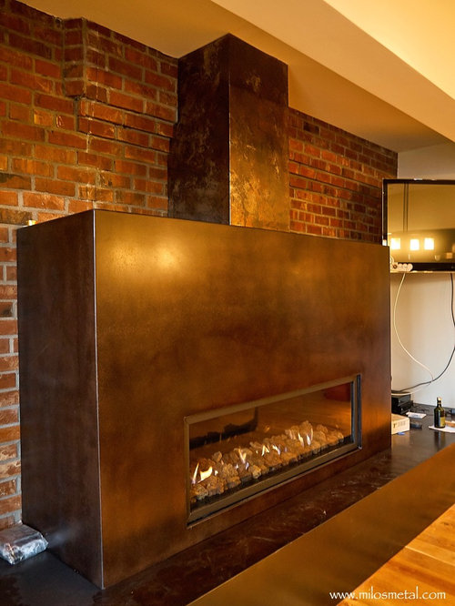 Fireplace Surrounds Volcanic Stainless Steel