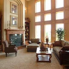 Traditional Living Room by TS Construction