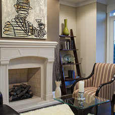 Traditional Living Room by TZS Design