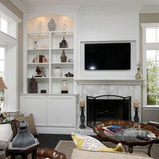 Transitional Living Room by Pacific Coast Custom Design