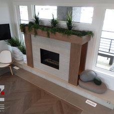 Contemporary Living Room by 2Stone Designer Concrete
