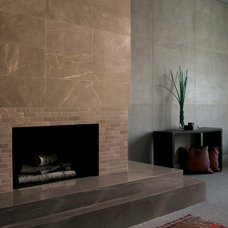 Industrial Living Room by ANN SACKS