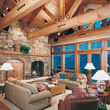 Rustic Living Room by Kearns, McGinnis and Vandenberg, Inc.