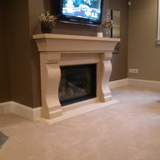 Transitional Living Room by Lyonstone Designs Inc.
