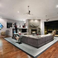 Modern Living Room by Sandella Custom Interiors, LLC