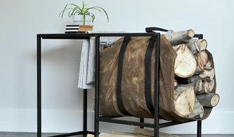 Firewood Rack Side Table