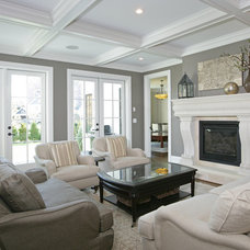 Traditional Living Room by Kristy Kay