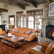 Rustic Living Room by Coburn Development