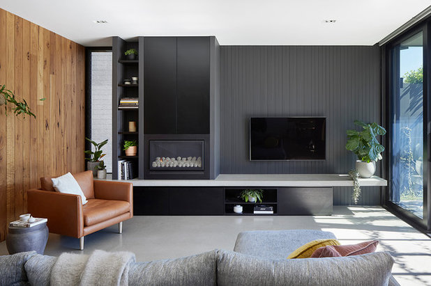 Contemporary Living Room by BENT Architecture