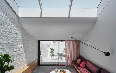 An Upside-Down Solution for a Skinny, Rundown Terrace