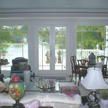 Fixed windows and patio doors.