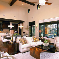 Contemporary Living Room by Design Visions of Austin