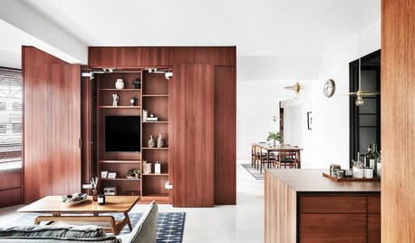 Houzz Tour: An Open Flat Zoned With Clever, Flexible Storage