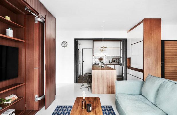 Scandinavian Living Room by Icon Interior Design Pte Ltd