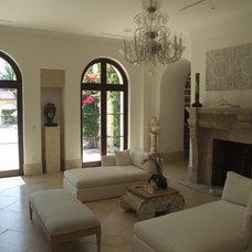 Mediterranean Living Room by Jarosz Architect, P.A.