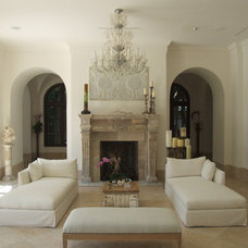 Mediterranean Living Room by Jarosz Architect, P.A.