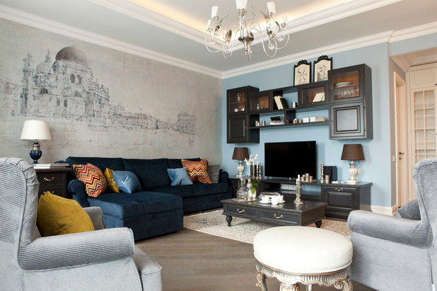 American Traditional Living Room by Special-style
