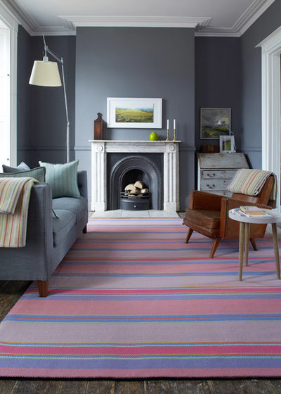 Contemporary Living Room by Roger Oates Floors & Fabrics