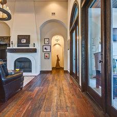 Mediterranean Living Room by Robert Stephen Homes, Ltd.