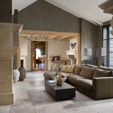 Contemporary Living Room by De Opkamer