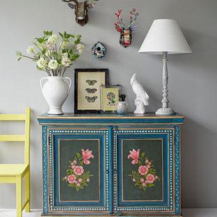 Shabby-Chic-Style Wohnzimmer in London